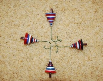Awesome American Patriotic Button Christmas Tree Ornament - Proceeds Benefit Cancer Research