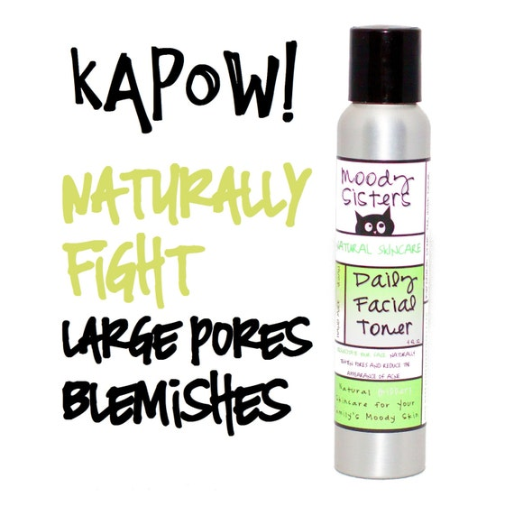 Blemish Facial Toner-- Natural Vegan Daily Toning--Mint with Apple Cider Vinegar and Witch Hazel