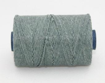 Waxed Irish Linen Thread Slate Grey 4 Ply