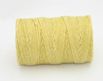 Waxed Irish Linen Thread Country Yellow 4 Ply
