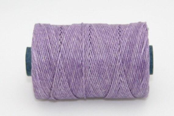 Waxed Irish Linen Thread Lavender 4 Ply