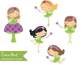Woodland Fairies Clip Art