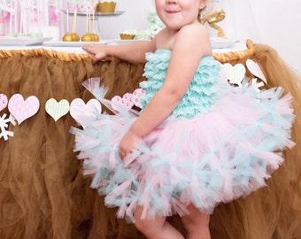 Pink and Aqua Tutu by Atutudes | Aqua and Pink Tutu | Pettiskirt | Petti Tutu | Tutu Skirt | Tutu Skirts | Pink Tutu | Aqua Tutu