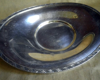Art Deco design, Andover Silver Co. oval Dish,1949-50's