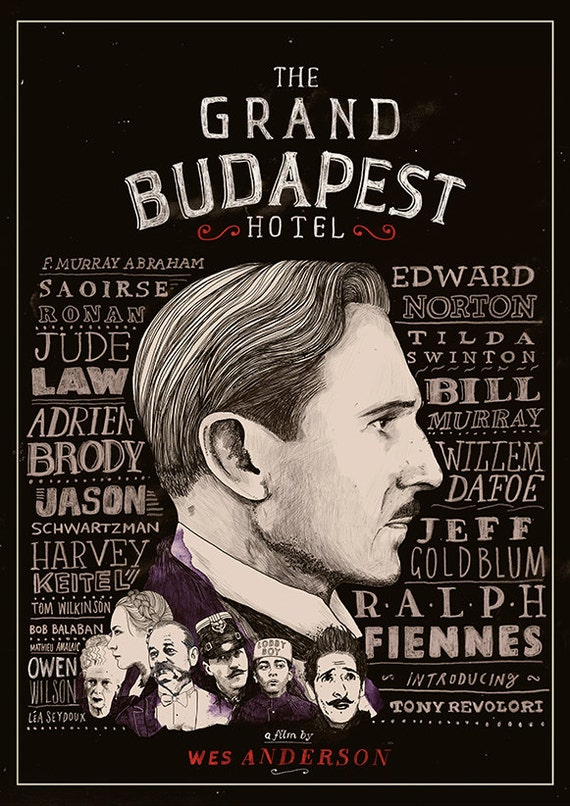 the grand budapest hotel film poster. Black Bedroom Furniture Sets. Home Design Ideas
