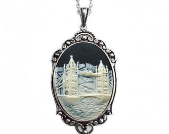 London Bridge Cameo Necklace