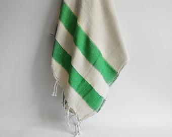 Turkish BATH Towel Peshtemal - LINEN - Green