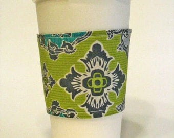French Royals Reusable Reversible Coffee Cup Sleeve/ Coffee Cozy/ Cup Cozy (Standard Size)