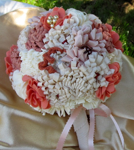 Weddings Bouquets Fabric Flower Bouquets By