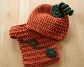 Newborn Pumpkin Set, Crochet pumpkin costume, Newborn pumpkin outfit, newborn halloween costume