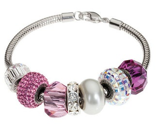 SWAROVSKI 180000 BeCharmed Bracelet for Pave Beads 180mm Silver