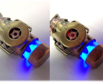 Steampunk 128GB USB Flash Drive Model 302 in a Tin Box, Double Indicator Lights
