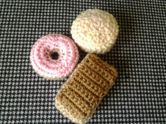 Doughnut Catnip Toy Set of 3 Maple Bar Pink Cake Donut and Sprinkled