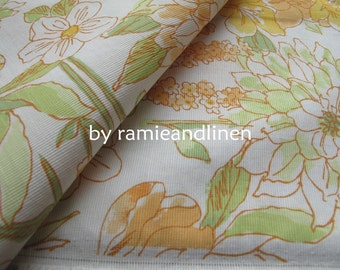 """Japanese cotton fabric, floral print cotton fabric, half yard by 58"""" wide"""
