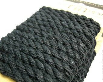 Black Hemp Rope, 6mm Thick Twisted Eco Friendly Rope Cord