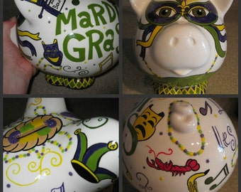 Large Ceramic Piggy Bank Any Character or Theme (Made to Order)