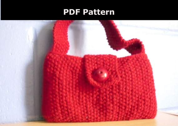 Knitting Pattern, Evening Bag. Knitted Evening Bag from ...
