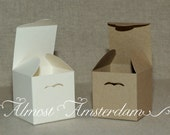 Cube-shaped Boxes - Square Boxes - Favour Boxes - Recycled or Pearlized/Shimmer Paper - Choose your colour
