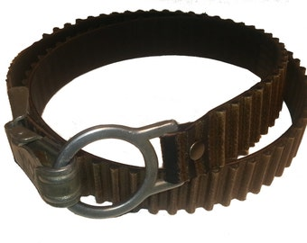 Groove rubber belt with parachute lock and big ring