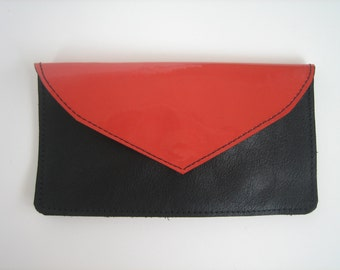 Coral Patent Leather Wallet