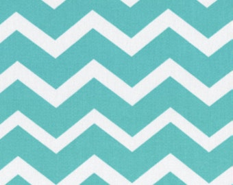 Chevron - Turquoise and White - BTY