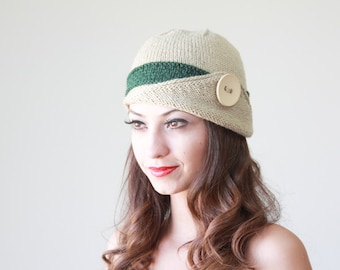Womens gift for her, Knit hat, Womens beanie, Winter hat, Womens hat, Knit beanie hat, Winter beanie, Lucy Hat, Green hat, inspirational