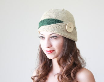 Knit hat, Womens winter hat, Womens gift beanie hat - Bonnet femme