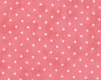 SALE Moda Fabric Essential Dots Peony- 2.5 yards 8654 70