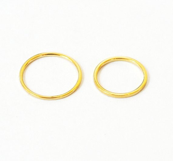 BUILD YOUR OWN - Set of 2 Rings - Any Size and Color - 925 Sterling Silver