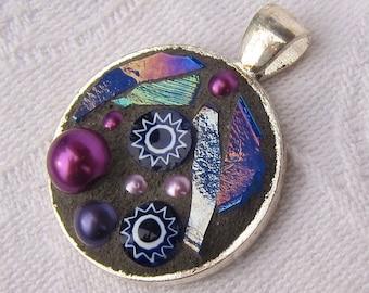 Purple Mosaic Pendant