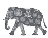 Kids Decor Grey Elephant Wall Decal, Large Elephant sticker, Boys bedroom decor, Safari Animal, Jungle Animal Decal, Baby Shower Gift