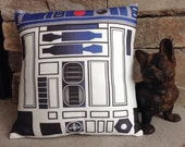 """R2D2 inspired 12"""" accent pillow cover sold with or without pillow"""