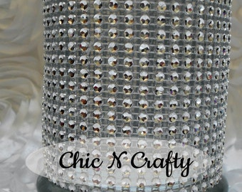 Set of 10 Wedding Bling Candle Holders..