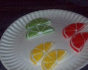 Felt Fruit Slices