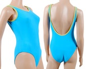 One Piece Swimsuit - Retro Swimsuit - Womens Bathing Suit - Low Back - Small - Medium