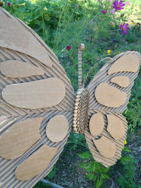 Items Similar To Cardboard Butterfly Wall Hanging
