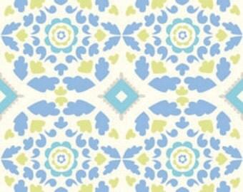 Dena Designs - TAZA - Josephine in Blue - 1 Yard - Cotton Fabric