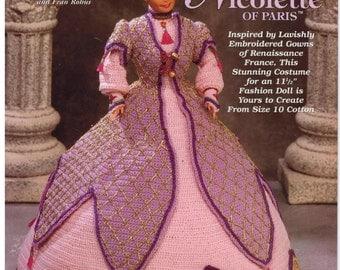 Barbie Costume Renaissance Nicolette of Paris Crocheted gown embellished