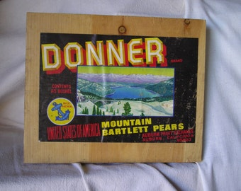 Donner Brand Pear Crate Label from Carlas Vintage Finds