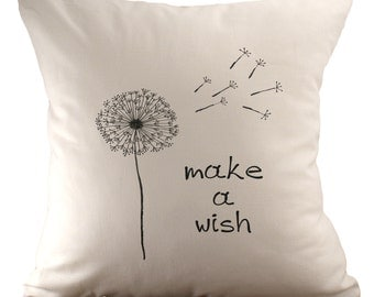 Make a wish - Cushion Cover - 18x18 - Choose your fabric