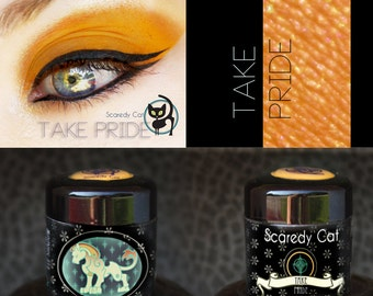 Matte Orange Eye Shadow  - Loose Eyeshadow - Scaredy Cat - TAKE PRIDE - 5 mL Sifter