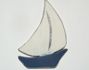 wood sailboat nautical art