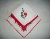 Vintage Handkerchiefs, Christmas