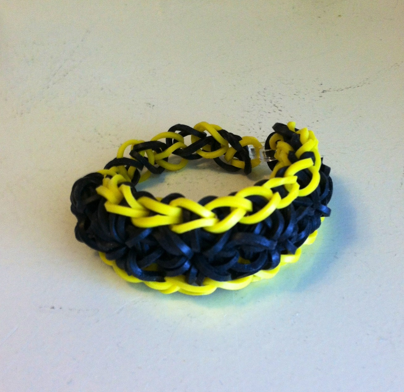Items similar to Child's RAINBOW LOOM Bracelet, Triple Single Style ...