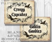 Haunted Mansion Party, Halloween Party, Haunted House Party - PRINTABLE TREAT LABELS - Cutie Putti Paperie