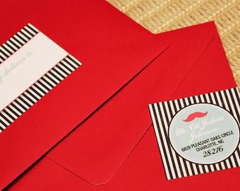 Mustache Wrap Address Labels