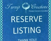 Reserve Listing for doublemint921