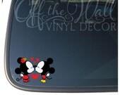 "Mickey & Minnie Mouse Disney ""Kissing"" Car/Laptop Vinyl Decal Sticker"