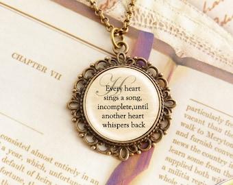 Heart - Fancy Literature Necklace