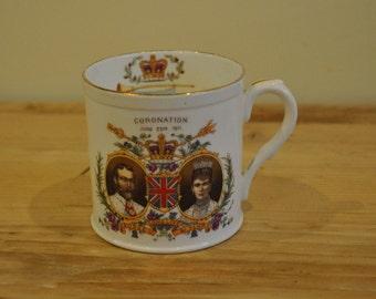George and Mary 1911 Coronation Shelley - Late Foley - China mug